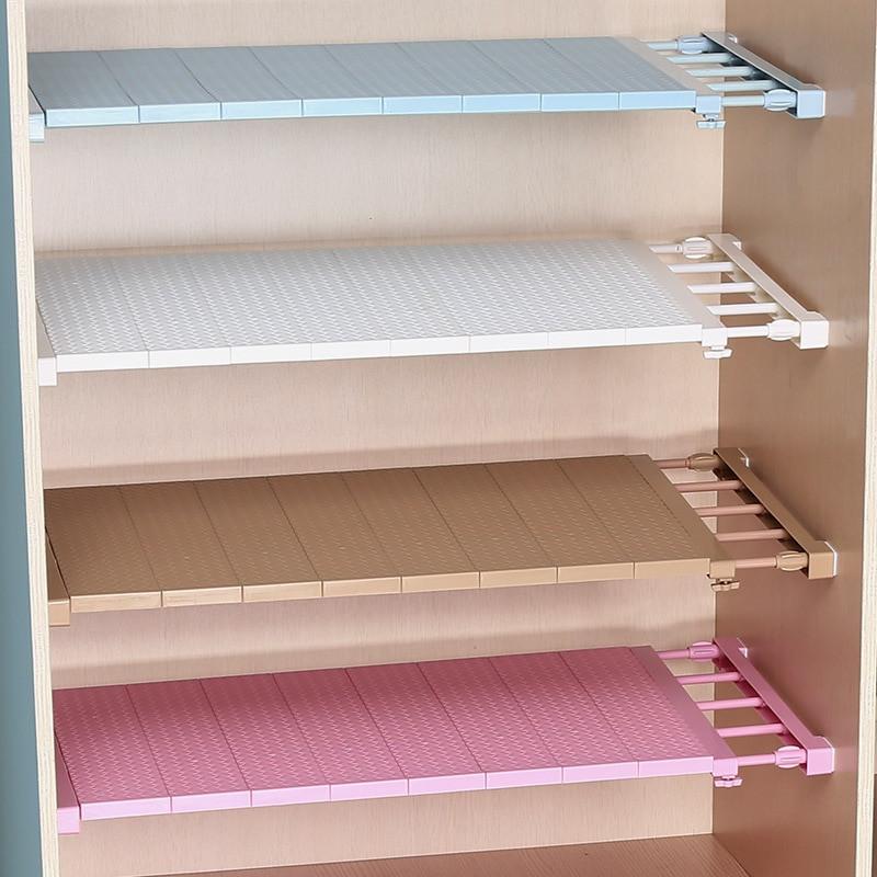 Kitchen Cabinet Shelves Organizer  Adjustable Closet Organizer Storage Shelf Wall Mounted