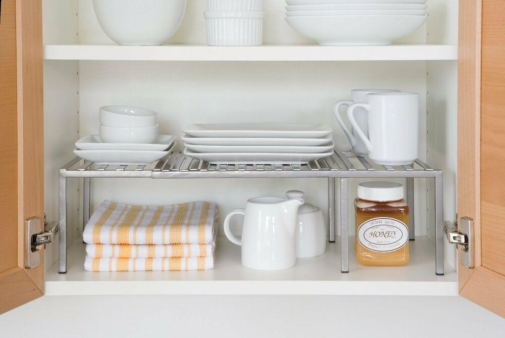 Kitchen Cabinet Shelves Organizer  Kitchen Cabinet Expandable Shelf Organizer Dish Cup Can