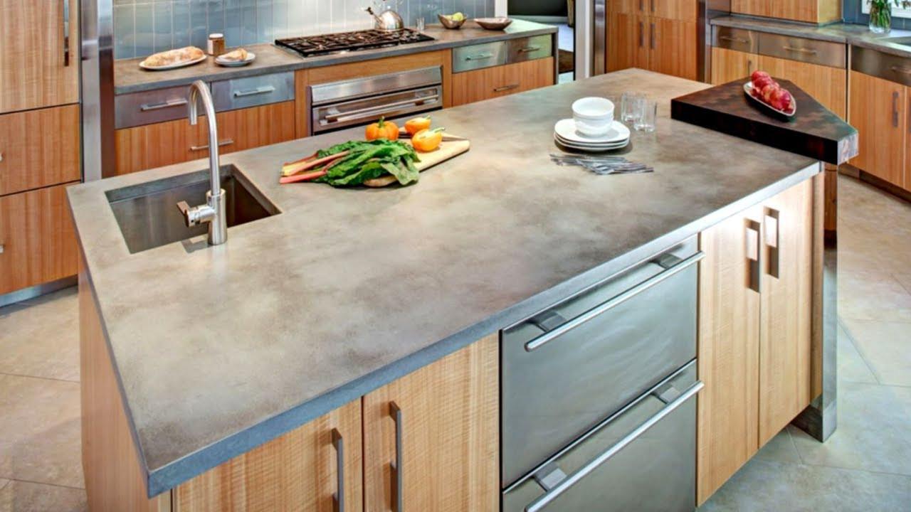 Kitchen Concrete Countertop  28 Concrete Countertop Ideas