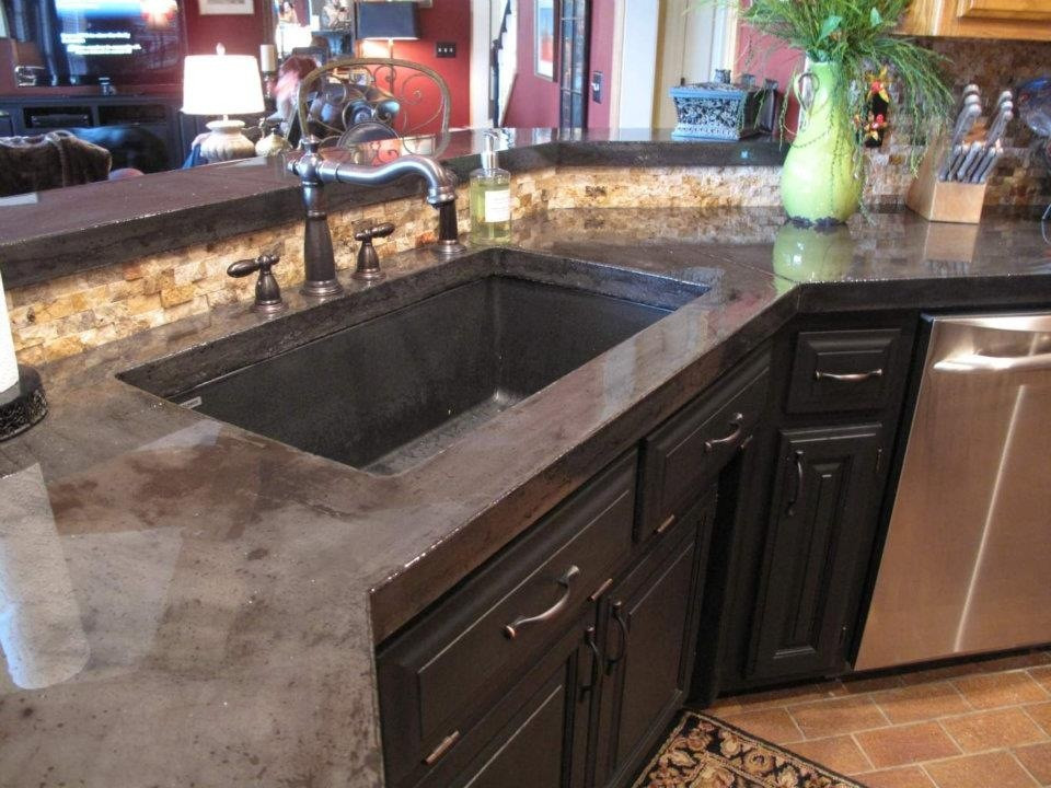 Kitchen Concrete Countertop  301 Moved Permanently