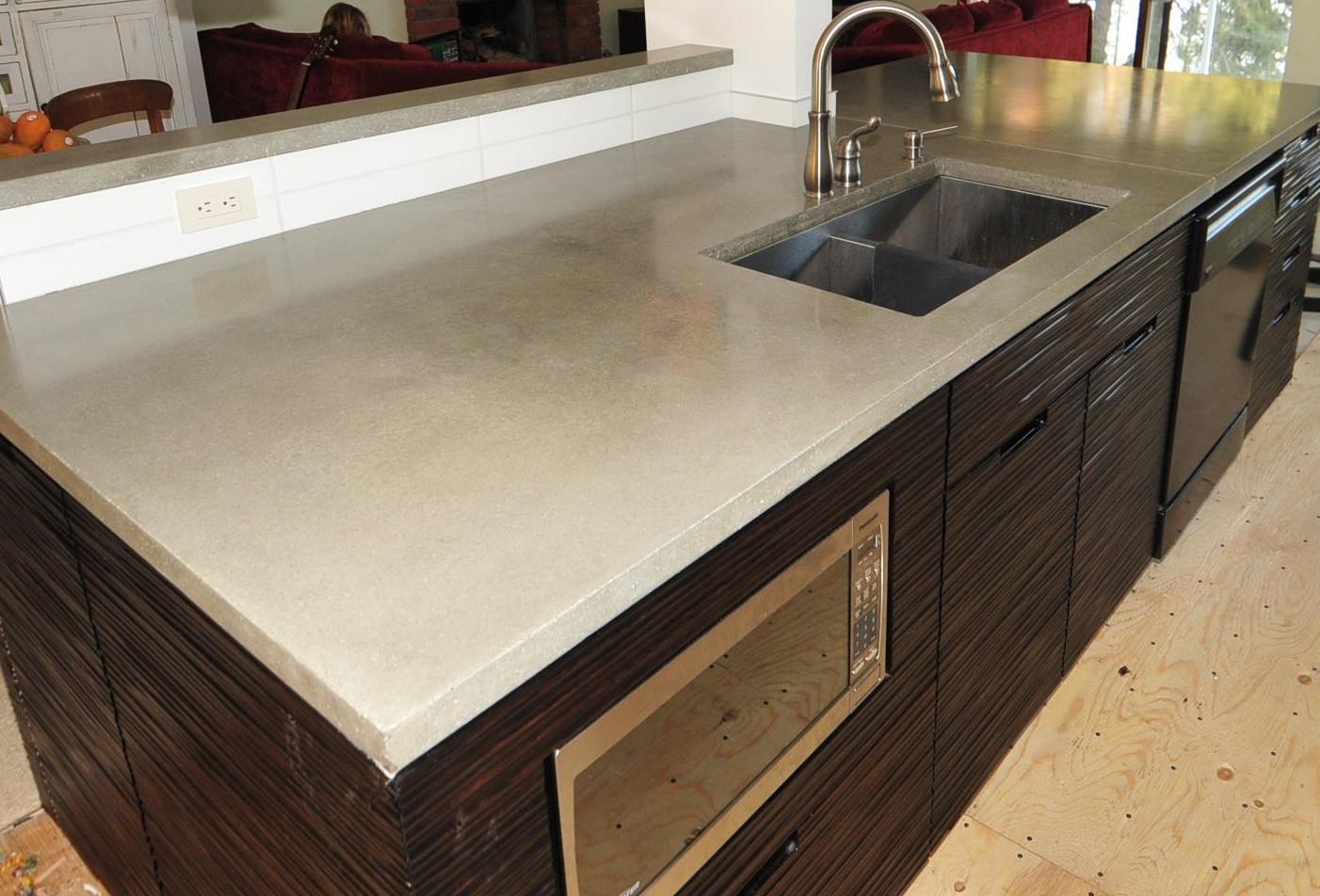 Kitchen Concrete Countertop  MODE CONCRETE Ultra Chic and Modern Concrete Kitchen