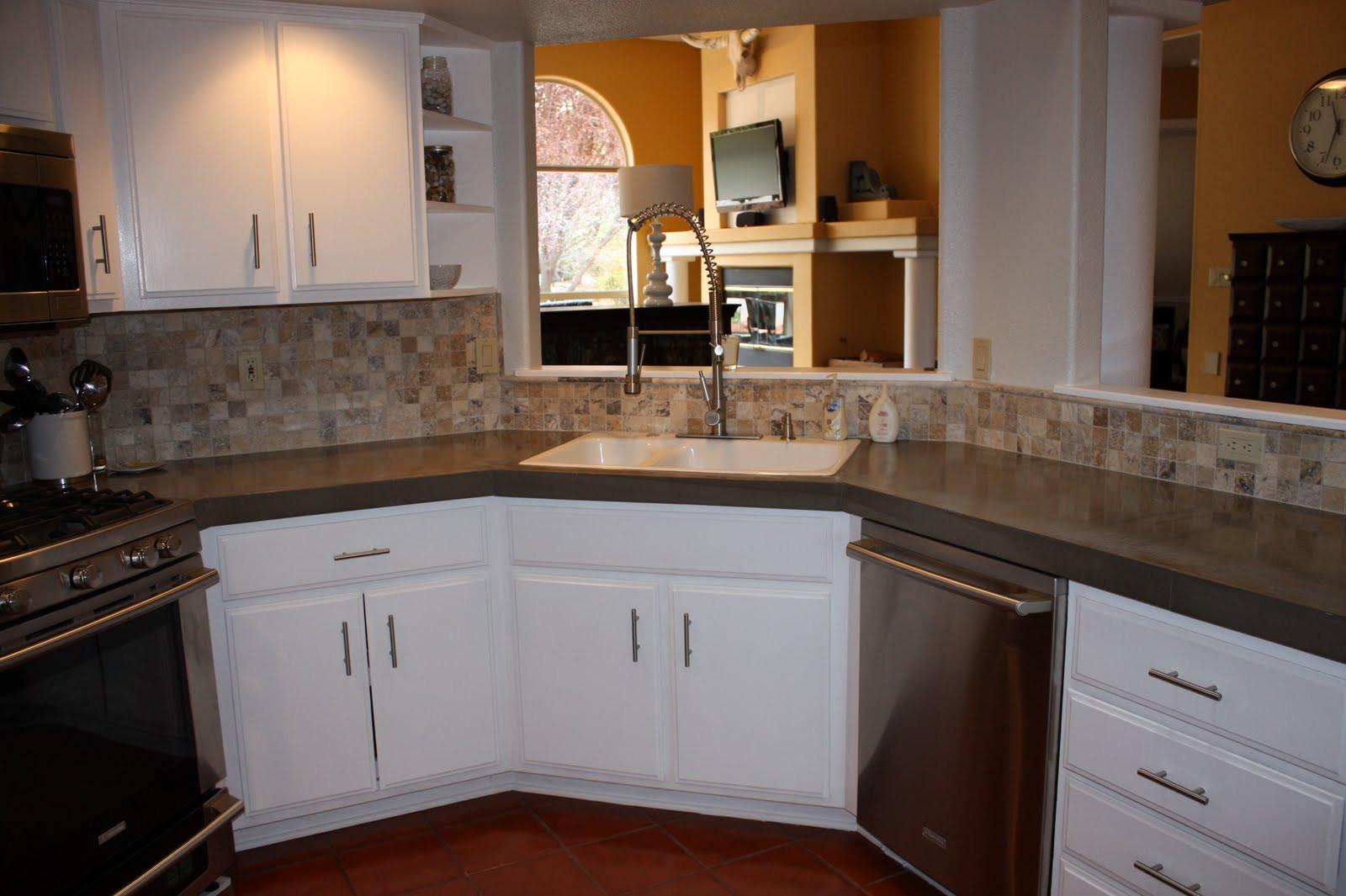 Kitchen Concrete Countertop  Quick Install of Concrete Countertops Kitchen Remodel