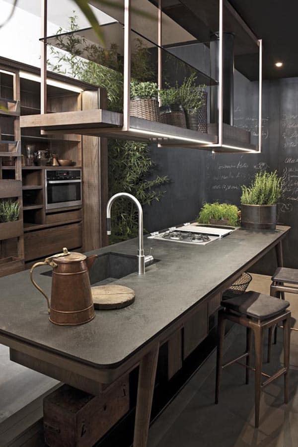 Kitchen Concrete Countertop  40 Amazing and stylish kitchens with concrete countertops