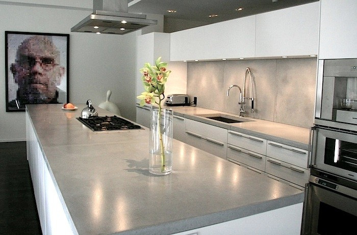 Kitchen Concrete Countertop  Remodeling 101 Concrete Countertops Remodelista