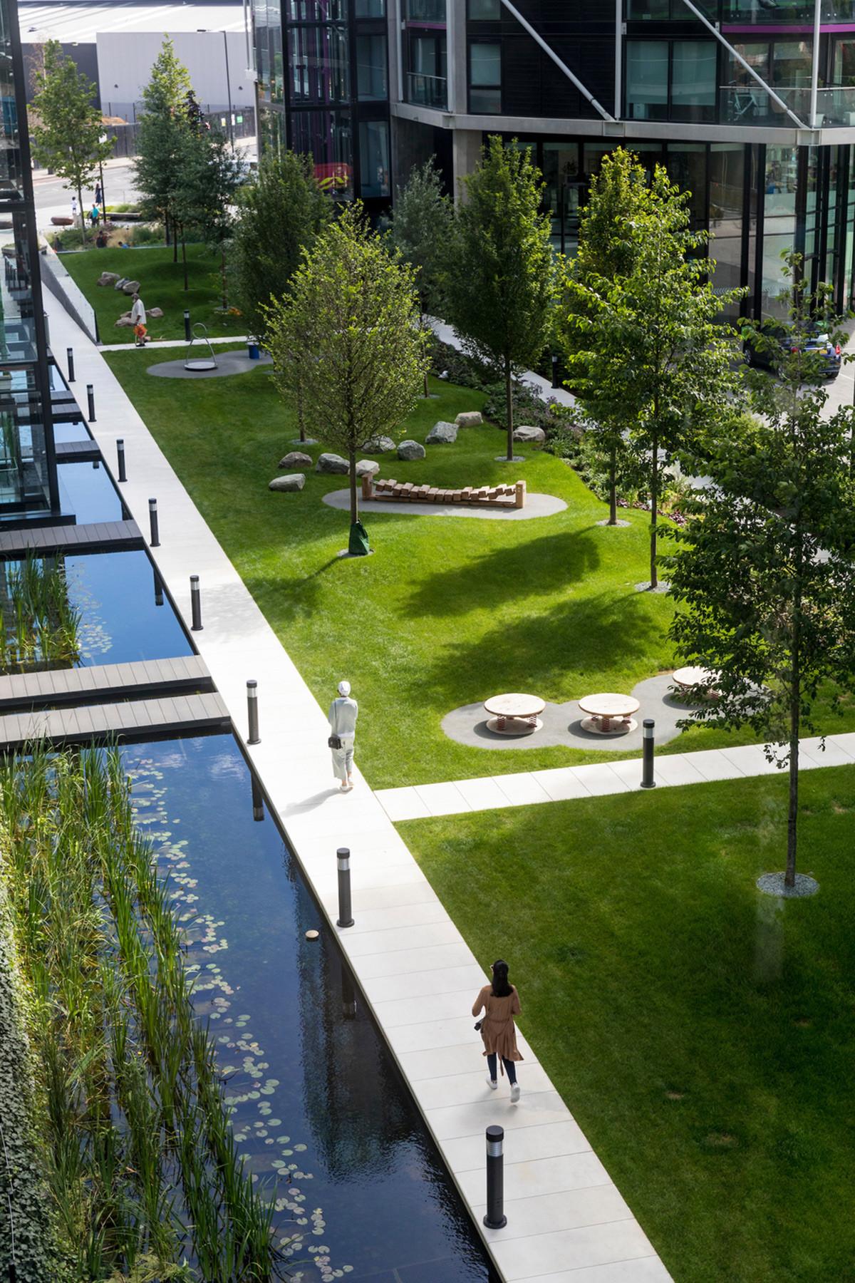 Landscape Architecture Design  Riverlight London UK