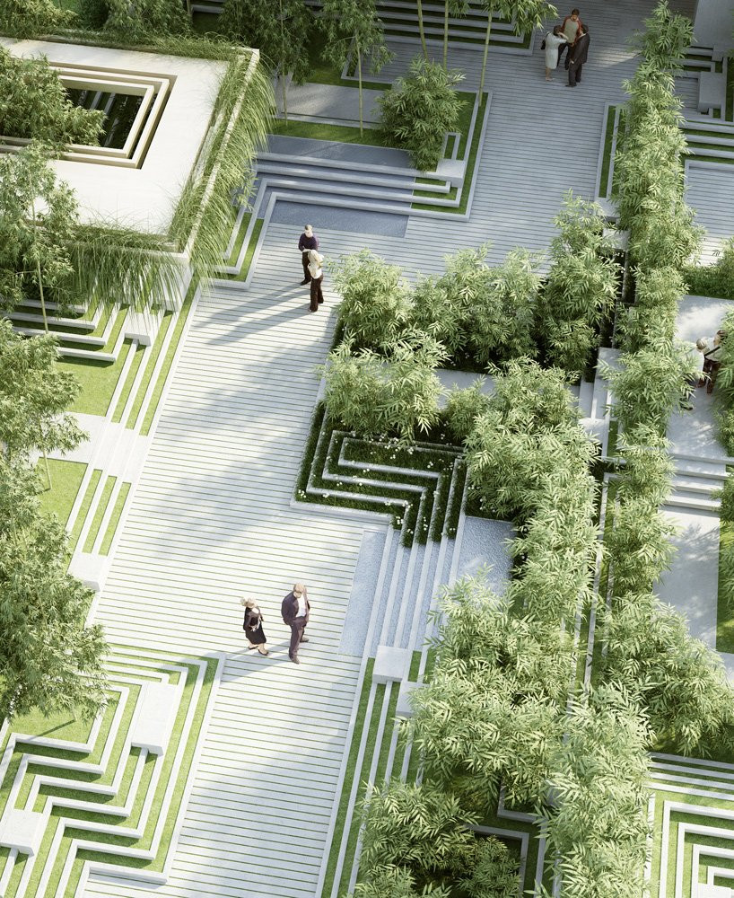 Landscape Architecture Design  penda magic breeze landscape design in india