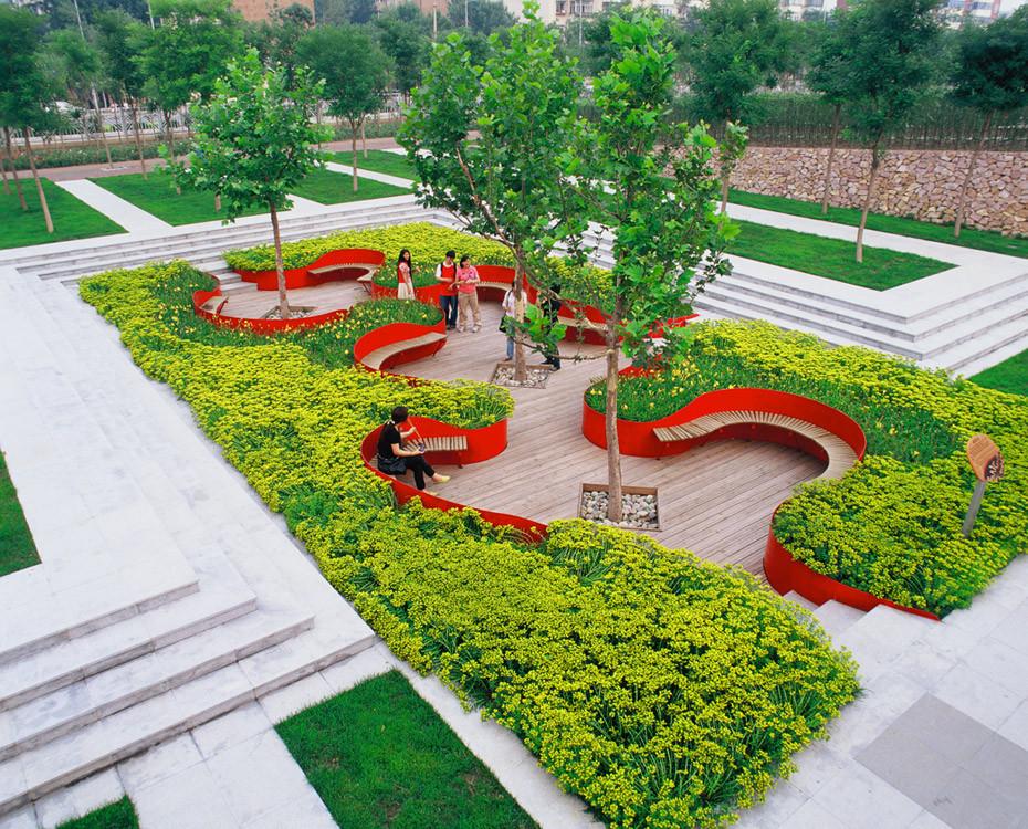 Landscape Architecture Design  Tianjin Qiaoyuan Park by Turenscape Landscape Architecture