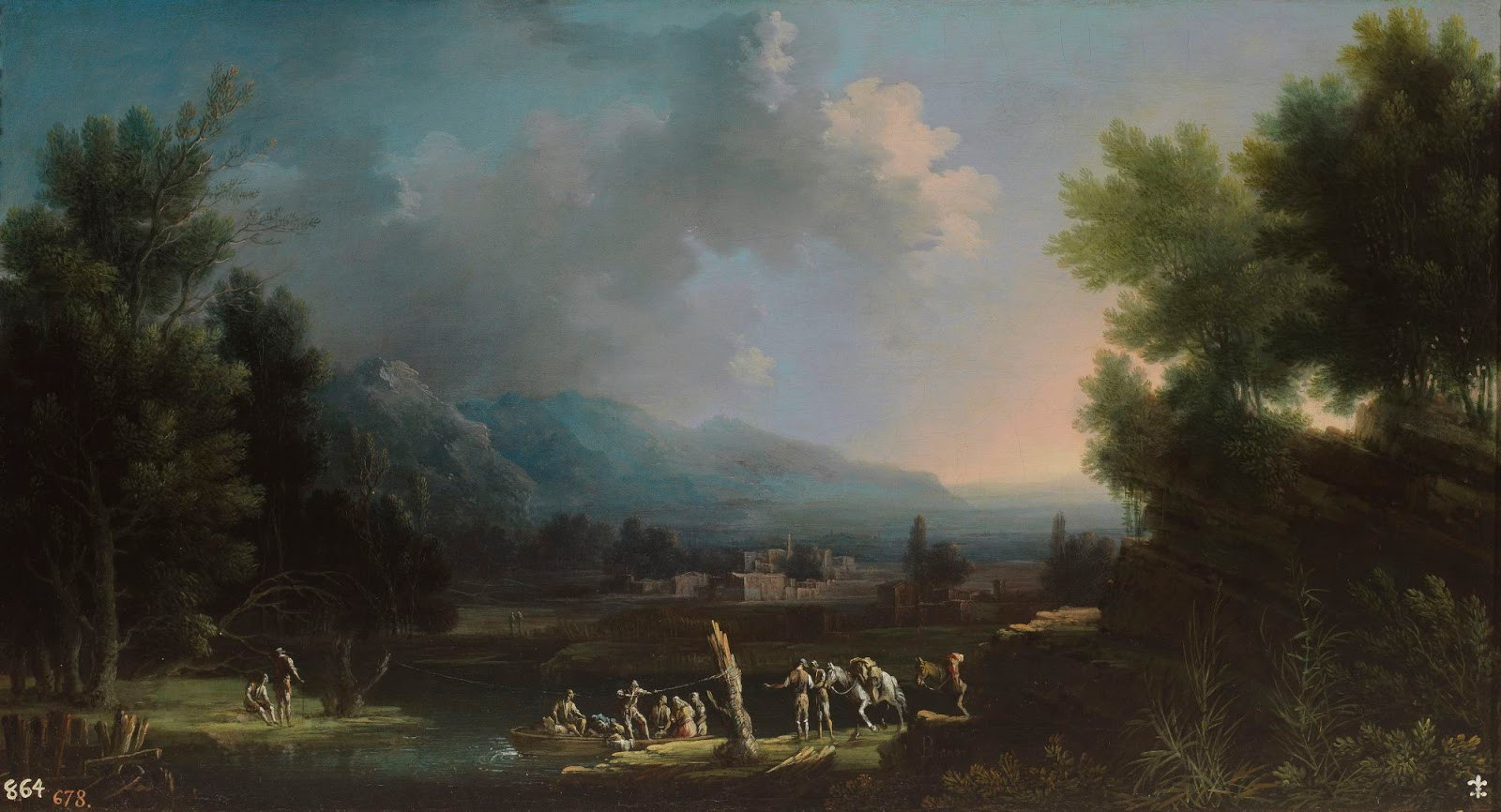 Landscape Painting Images  Spencer Alley European Landscape Paintings 18th century