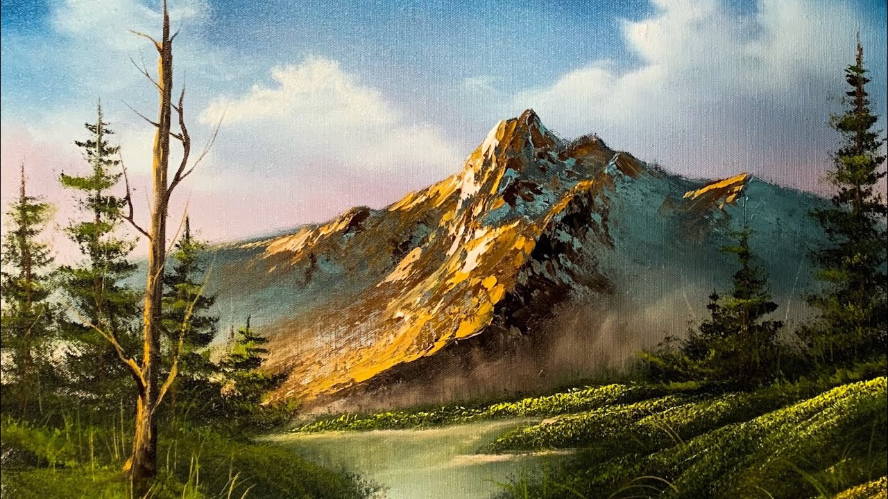Landscape Painting Images  How To Paint A Beautiful Mountain Landscape In Oil