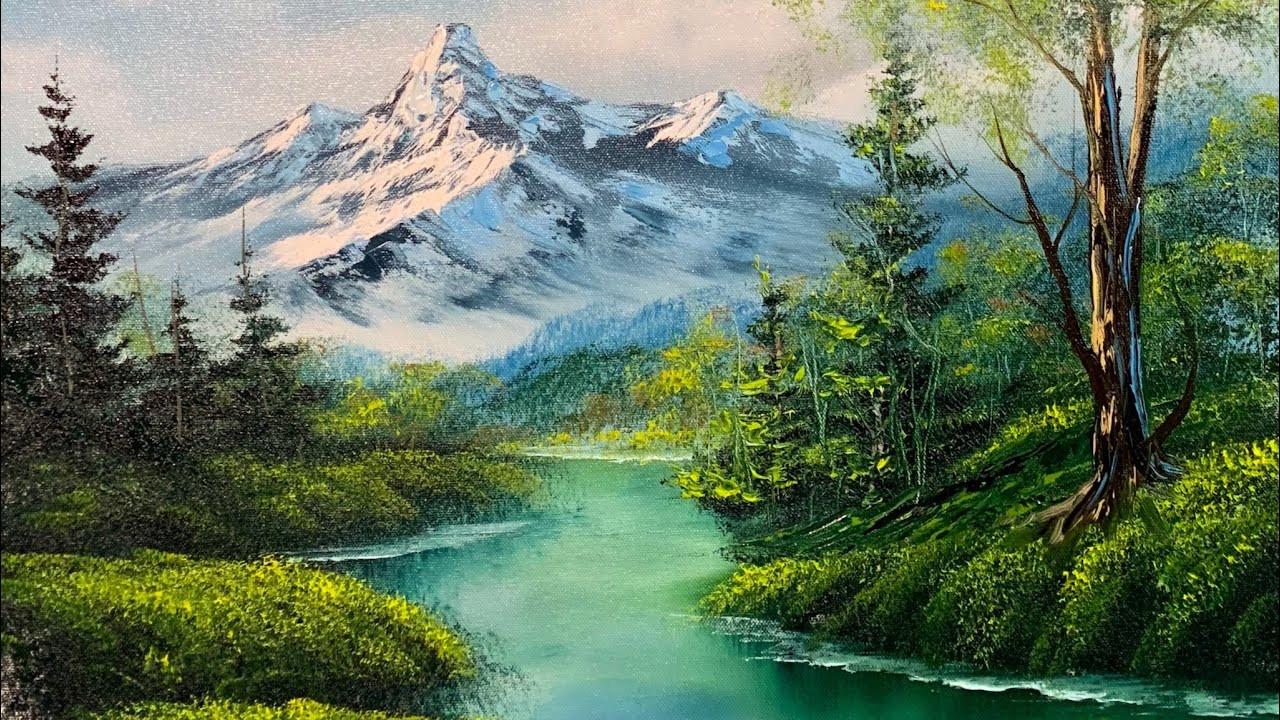 Landscape Painting Images  Landscape Painting Tutorial Hidden Lakes