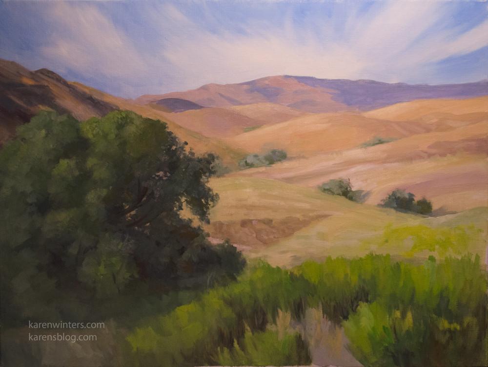 Landscape Painting Images  Oak Tree Paintings Oak Oil Paintings Pastels and