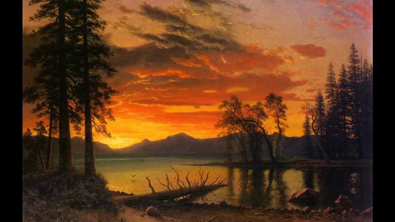 Landscape Painting Images  Paintings by ALBERT BIERSTADT & The memory of trees by