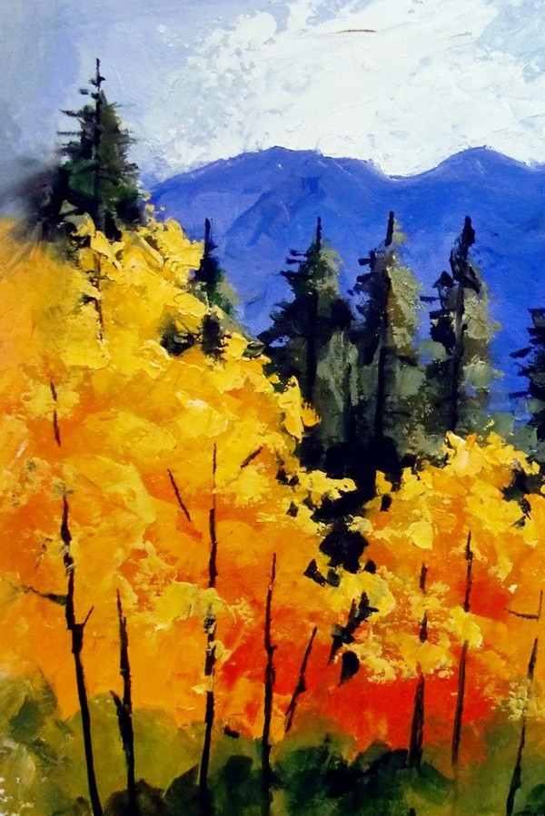 Landscape Painting Images  60 Easy And Simple Landscape Painting Ideas