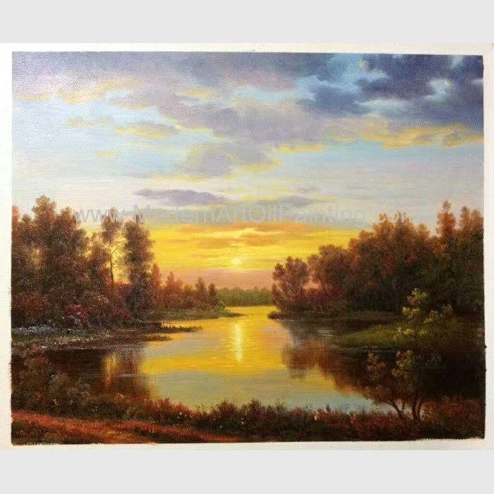 Landscape Painting Images  Classical Nature Oil Painting Landscape Sunset Landscape