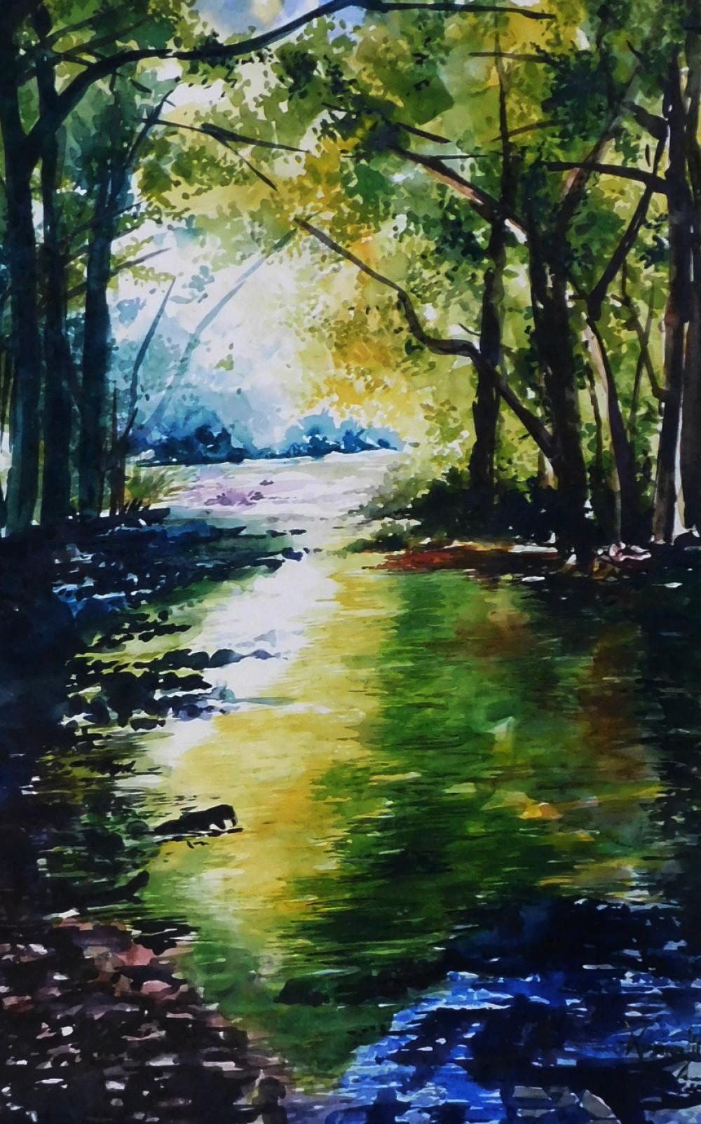Landscape Painting Images  Landscape Painting by Pabitra Dutta