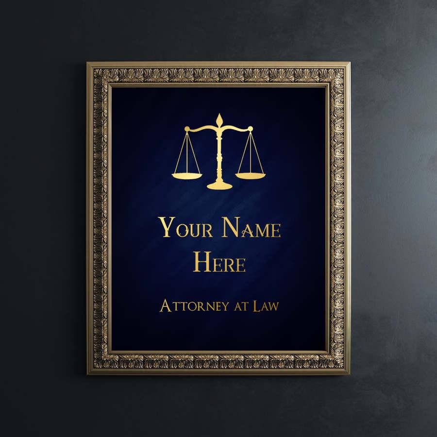 Law School Graduation Gift Ideas  Law School Graduation Gift Personalized Lawyer Gift Gold