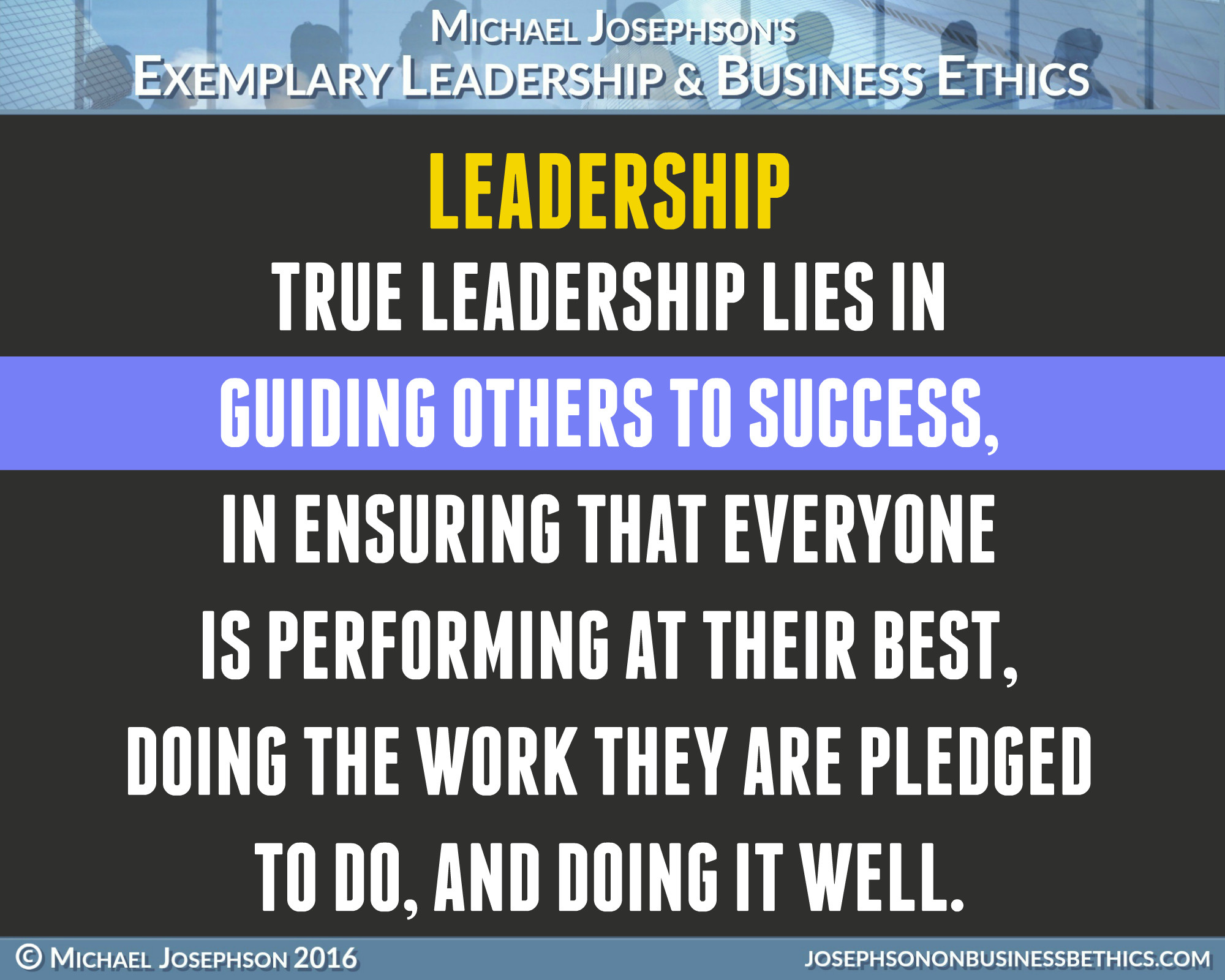 Leadership Quote  BEST EVER POSTER QUOTES ON LEADERSHIP Exemplary Business