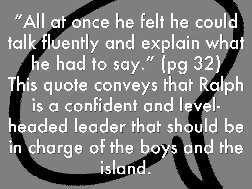 Lord Of The Flies Ralph Leadership Quotes  Get Here Quotes About Ralph In Lord The Flies