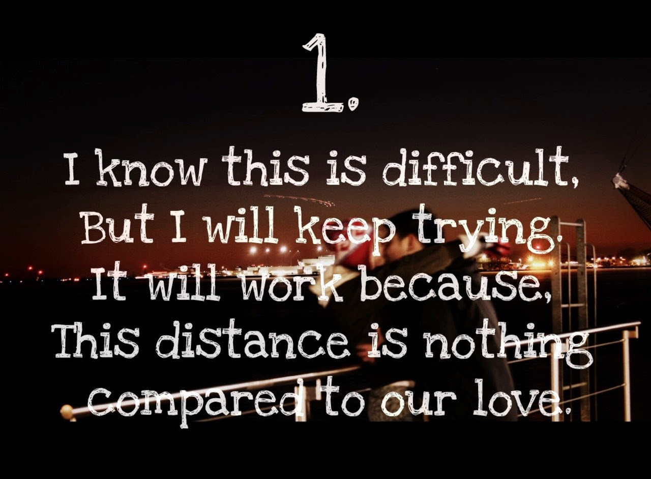 Love Quote For Long Distance Relationship  Long distance relationship quotes for her and for him