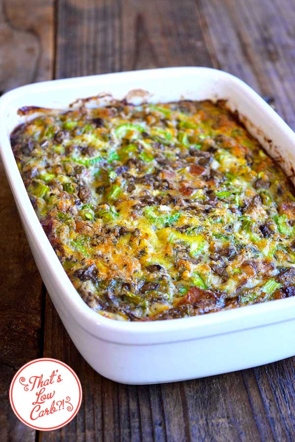 Low Carb Brunch Recipes  Low Carb Bacon Asparagus Breakfast Casserole Recipe
