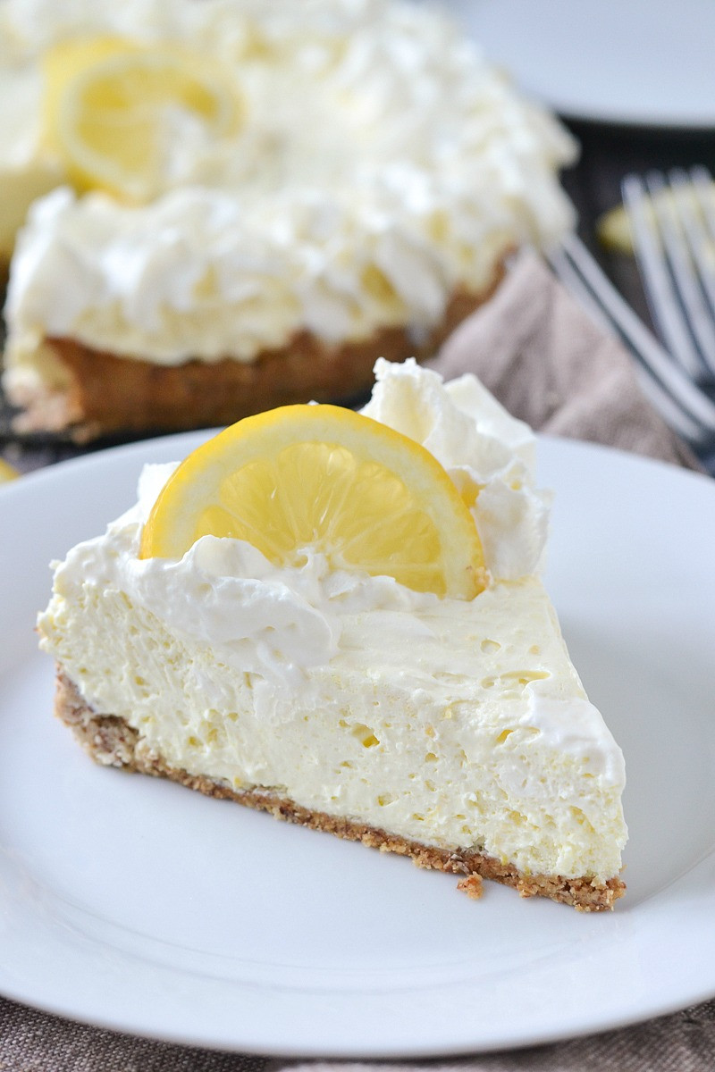 Low Carb Cream Cheese Dessert  Low Carb Lemon Cheesecake