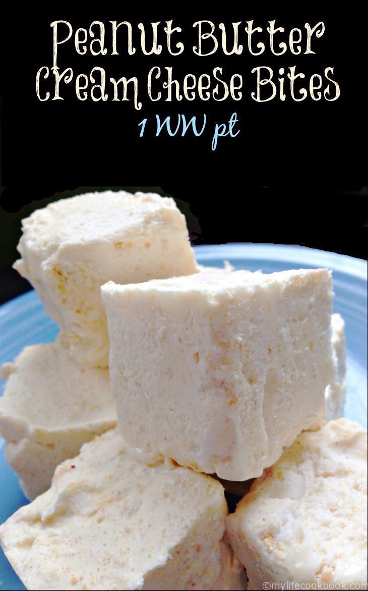 Low Carb Cream Cheese Dessert  Recipe Peanut Butter Cream Cheese Bites WW1Pt