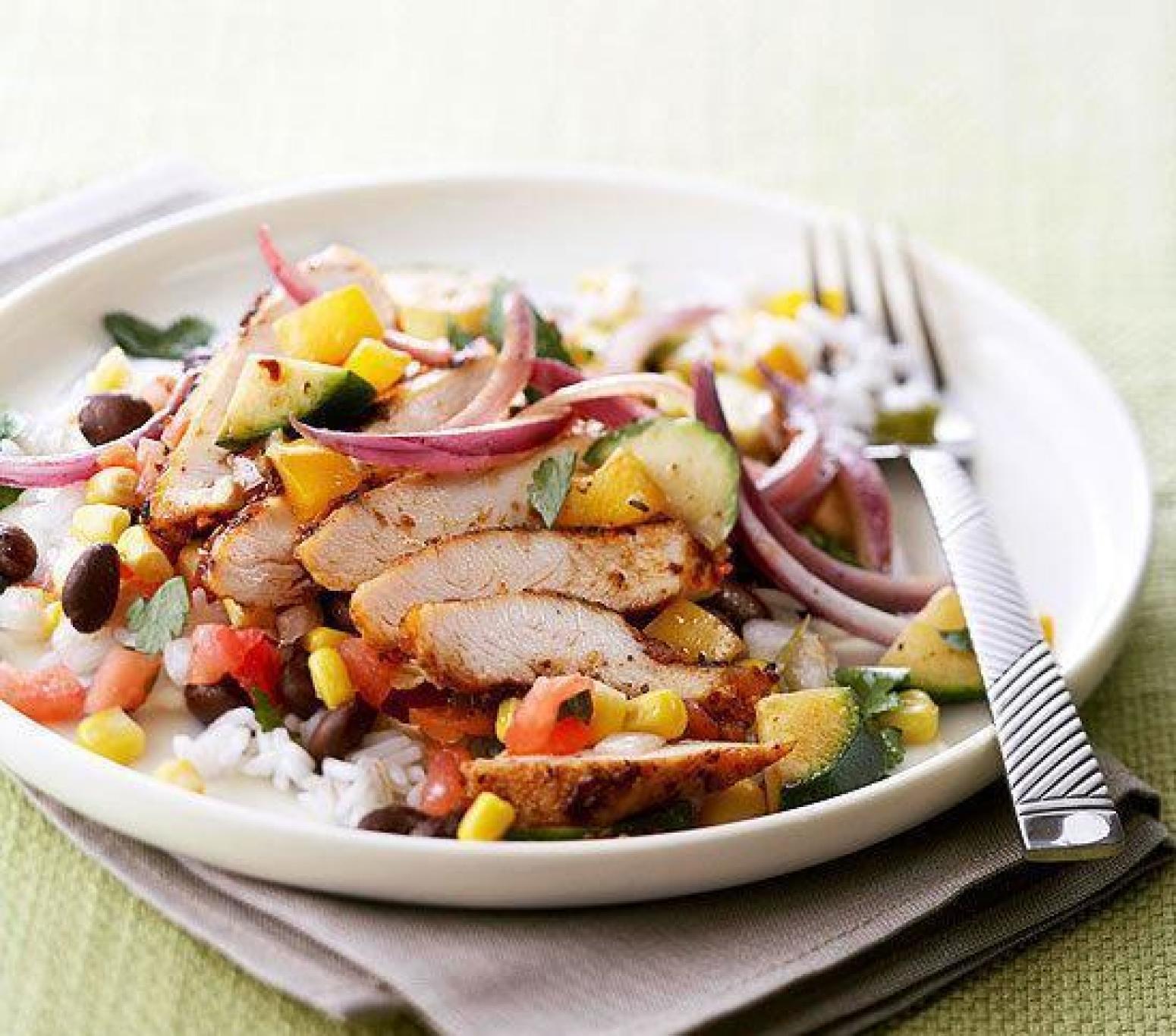 Low Cholesterol Chicken Recipes  Low Fat Southwest Chicken Skillet Recipe