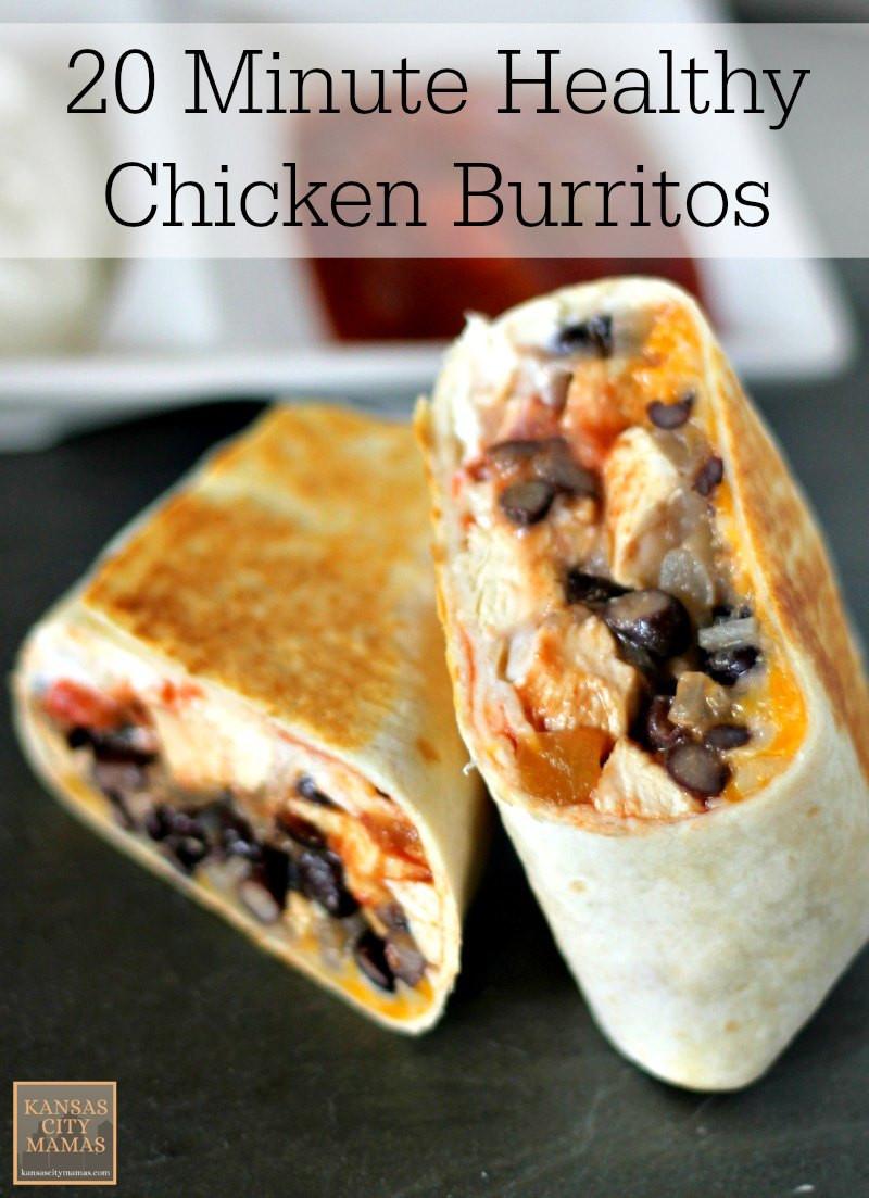 Low Cholesterol Chicken Recipes  20 Minute Low Fat Healthy Chicken Burrito Recipe