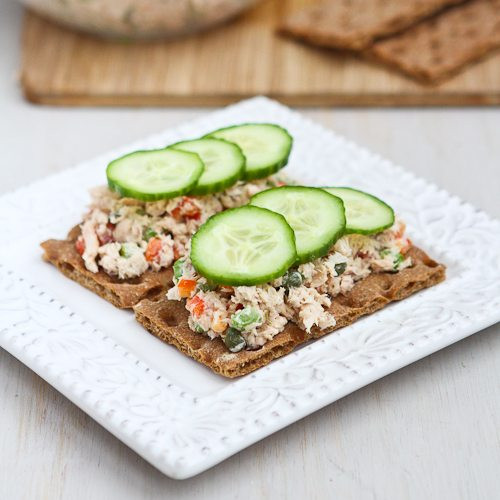 Low Cholesterol Salmon Recipes  Low Fat Salmon Salad Sandwich Recipe with Capers
