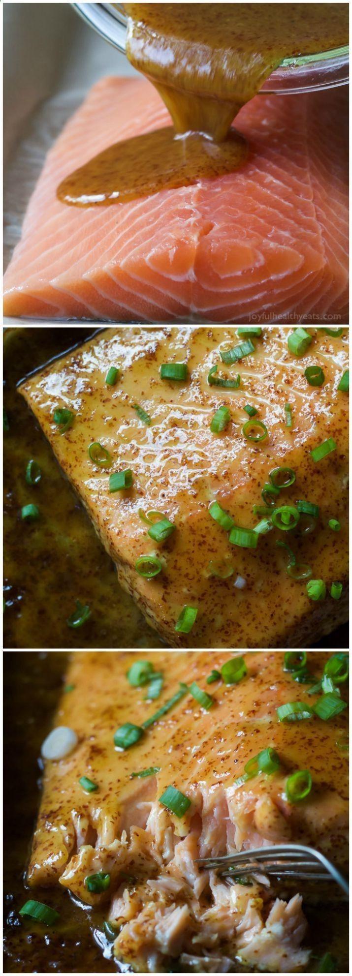 Low Cholesterol Salmon Recipes  Lower Cholesterol Below 100 Dijon Maple Glazed Salmon is
