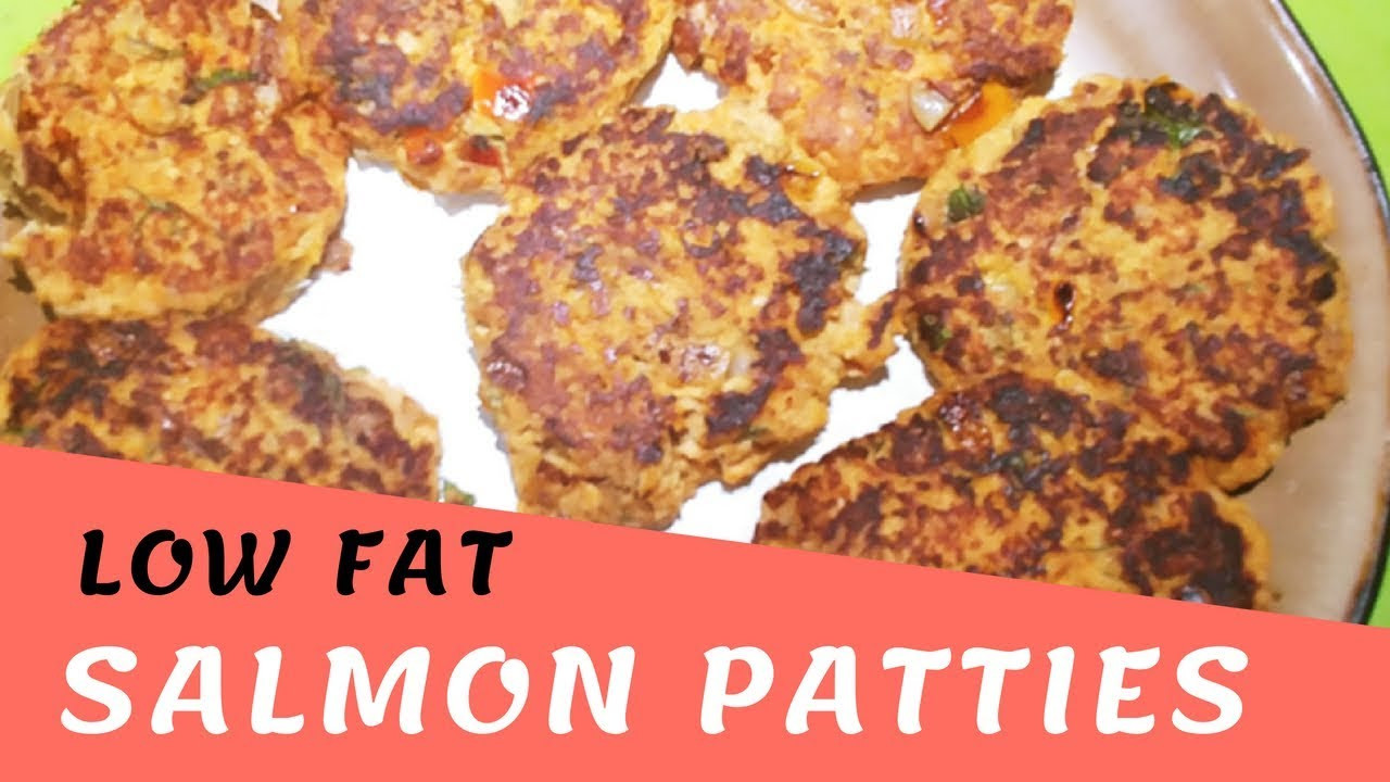 Low Cholesterol Salmon Recipes  Low Fat Salmon Patties Recipe Video 4SP How to Make
