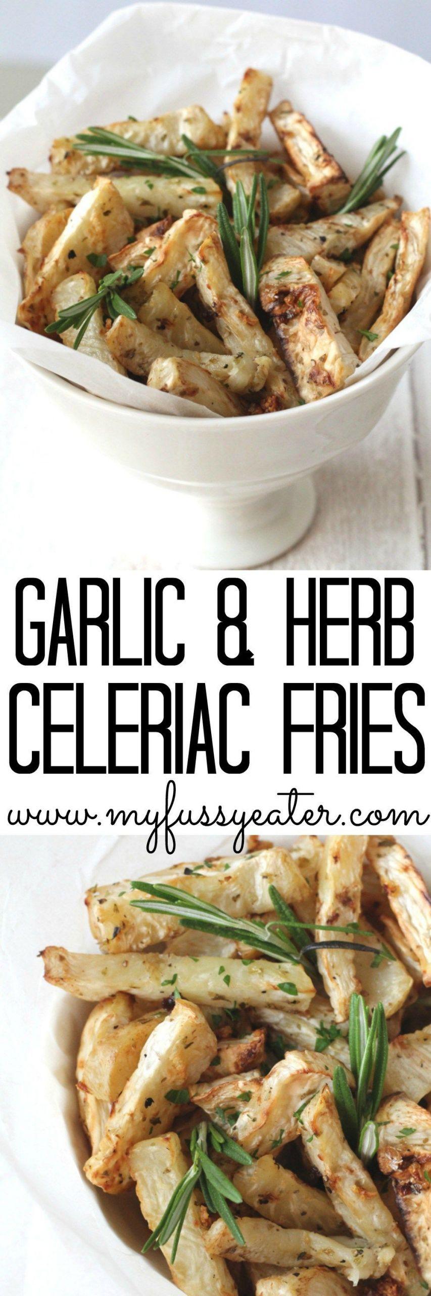 Low Cholesterol Side Dishes  Garlic & Herb Celeriac Fries Recipe