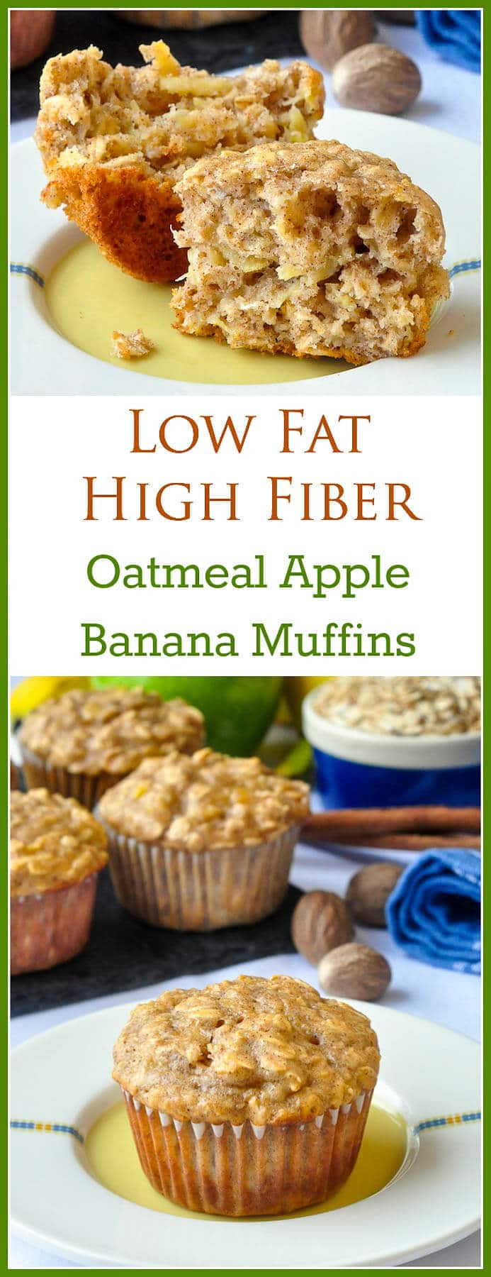 Low Fat Low Cholesterol Recipes  Oatmeal Apple Banana Low Fat Muffins Easy delicious
