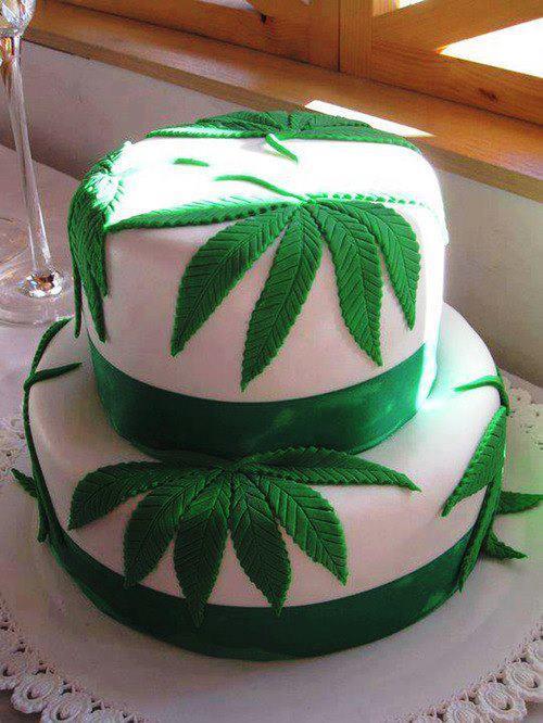 Marijuana Birthday Cake  cannabis cake