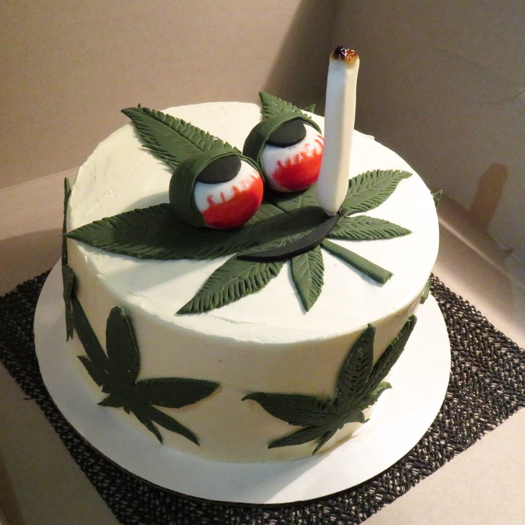 Marijuana Birthday Cake  Pin on Elizzas Cakes
