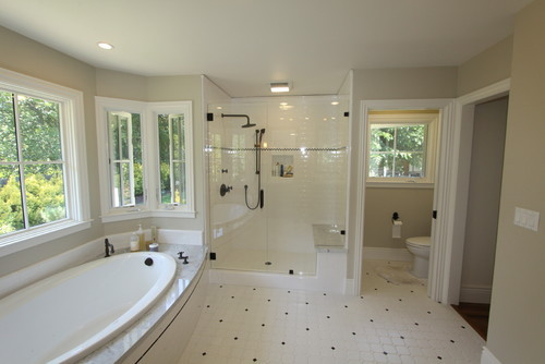 """Master Bathroom Size  What size is the water closet """"toilet room"""""""