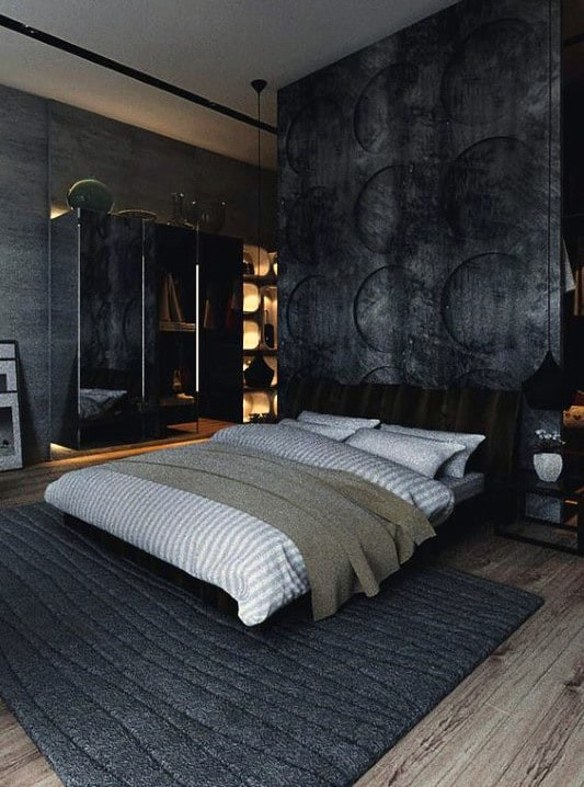 Mens Bedroom Design  80 Bachelor Pad Men s Bedroom Ideas Manly Interior Design