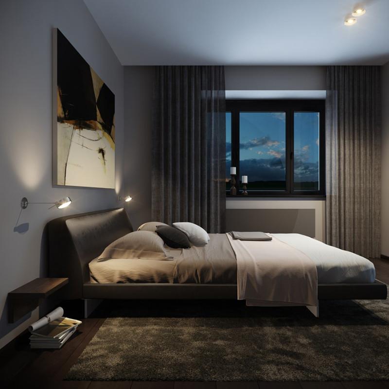 Mens Bedroom Design  22 Bachelor s Pad Bedrooms for Young Ener ic Men