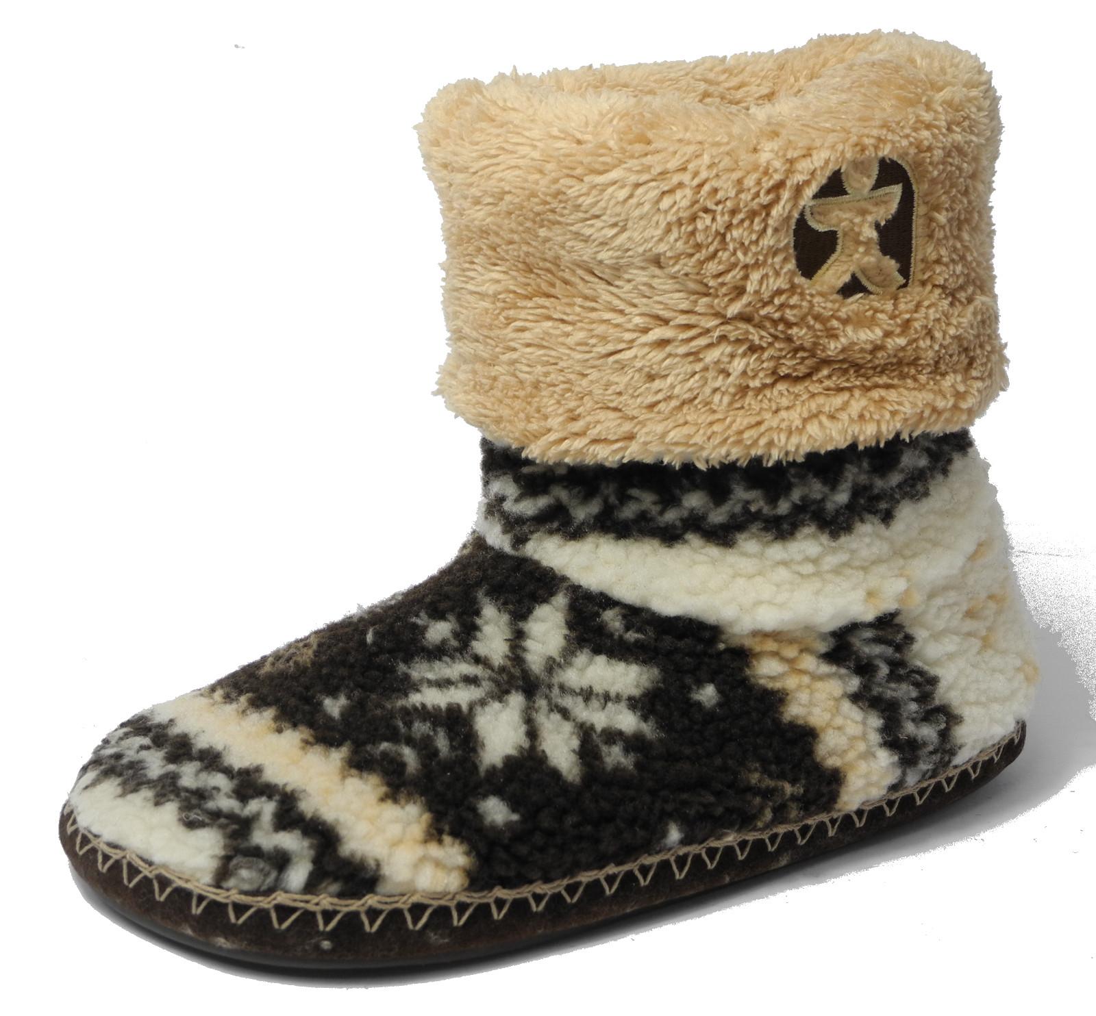 Mens Bedroom Shoes  Mens Bedroom Athletics Fairisle Sherpa Fleece Fur Tall