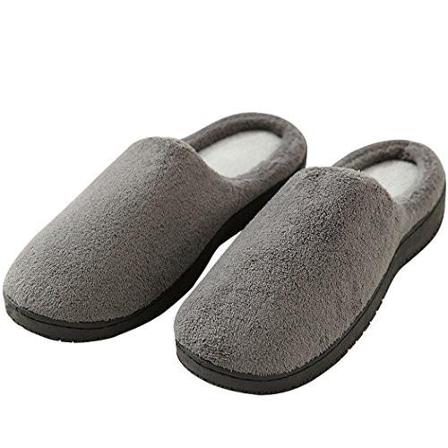 Mens Bedroom Shoes  Duckmole House Slippers For Men Mens Memory Foam Coral