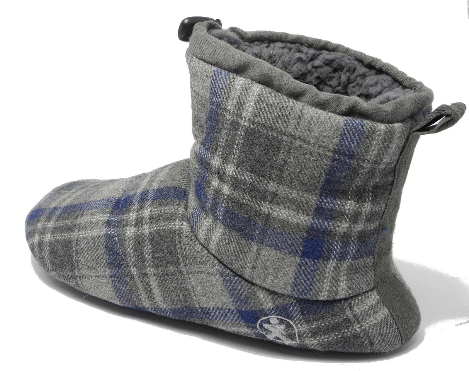 Mens Bedroom Shoes  Mens Bedroom Athletics Brushed Cotton Soft Fleece Fur Boot