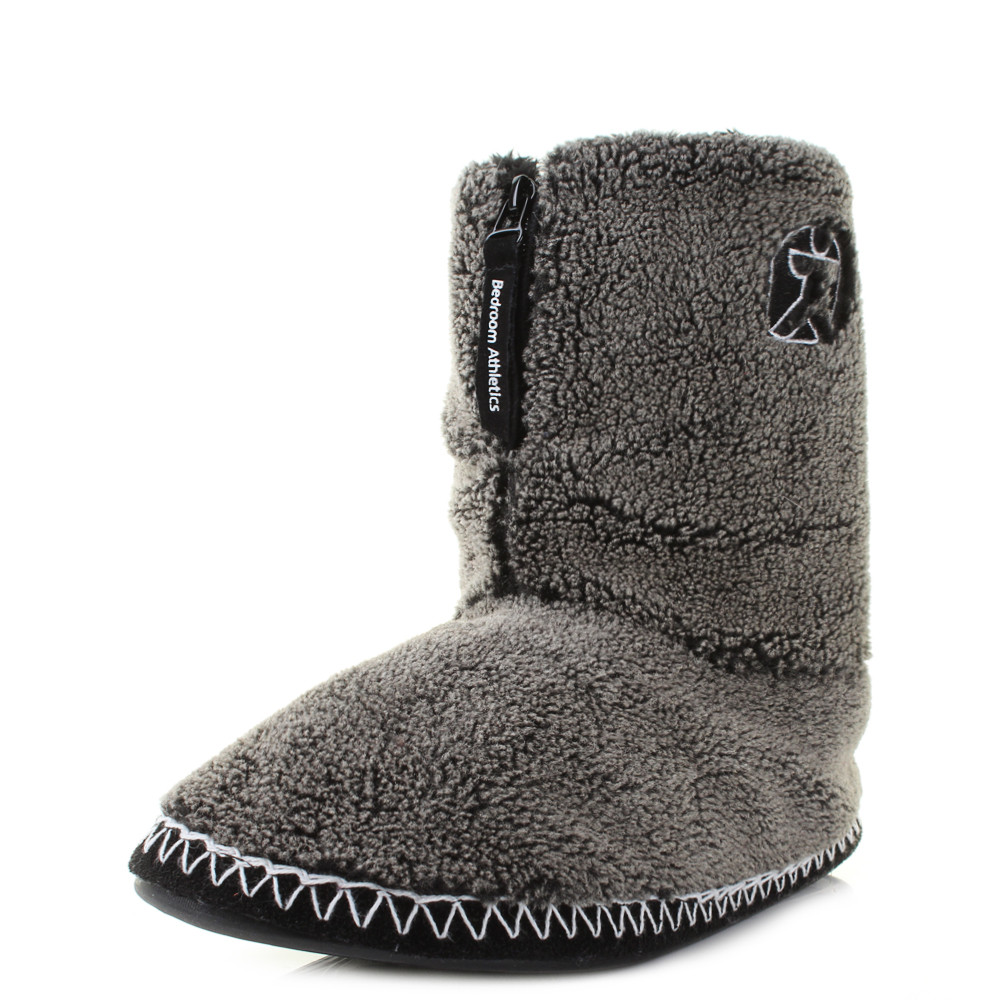 Mens Bedroom Shoes  Mens Bedroom Athletics Crowe Washed Black Fleece Snow Tip