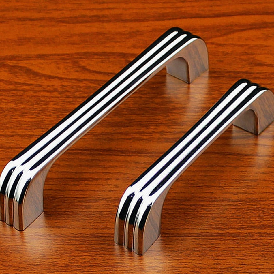 Modern Handles For Kitchen Cabinet  8pcs 128mm Chrome Modern Cabinet Kitchen Drawer Handles