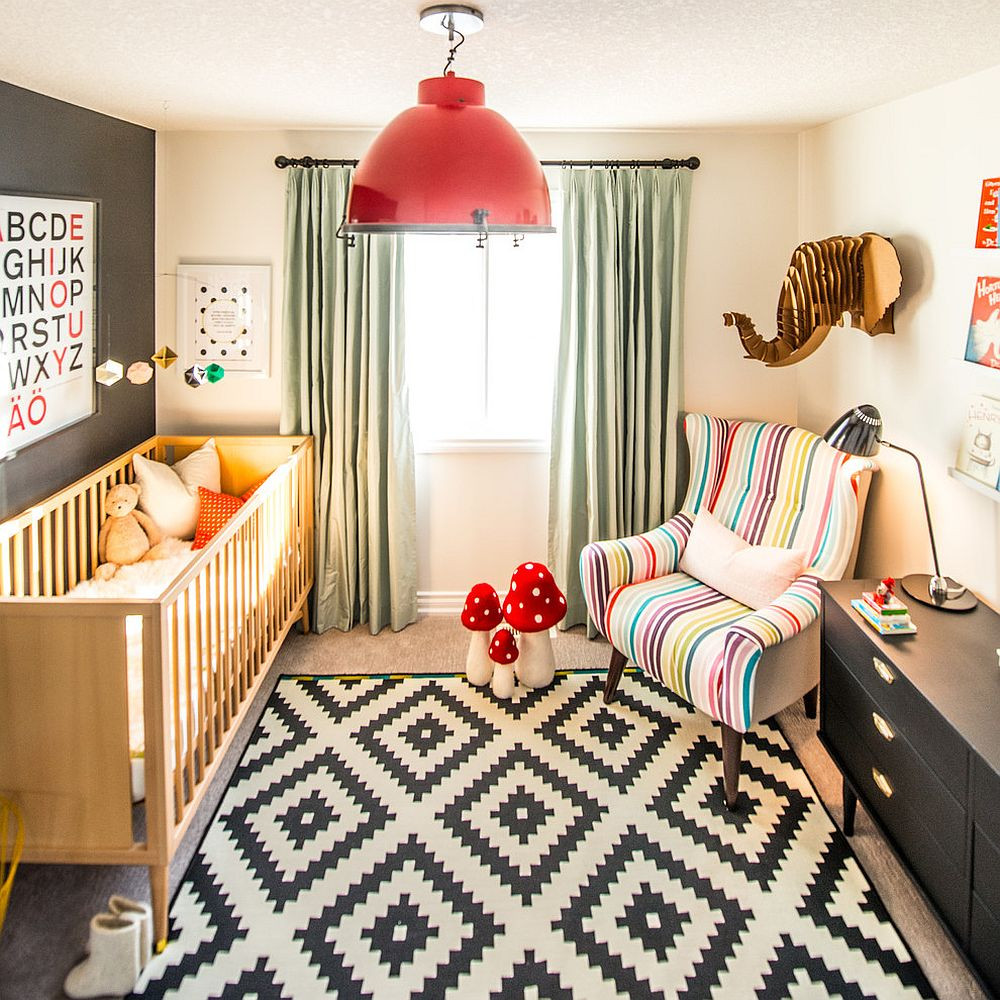 Modern Kids Decor  20 Cheerful and Versatile Ways to Use Black in the Nursery