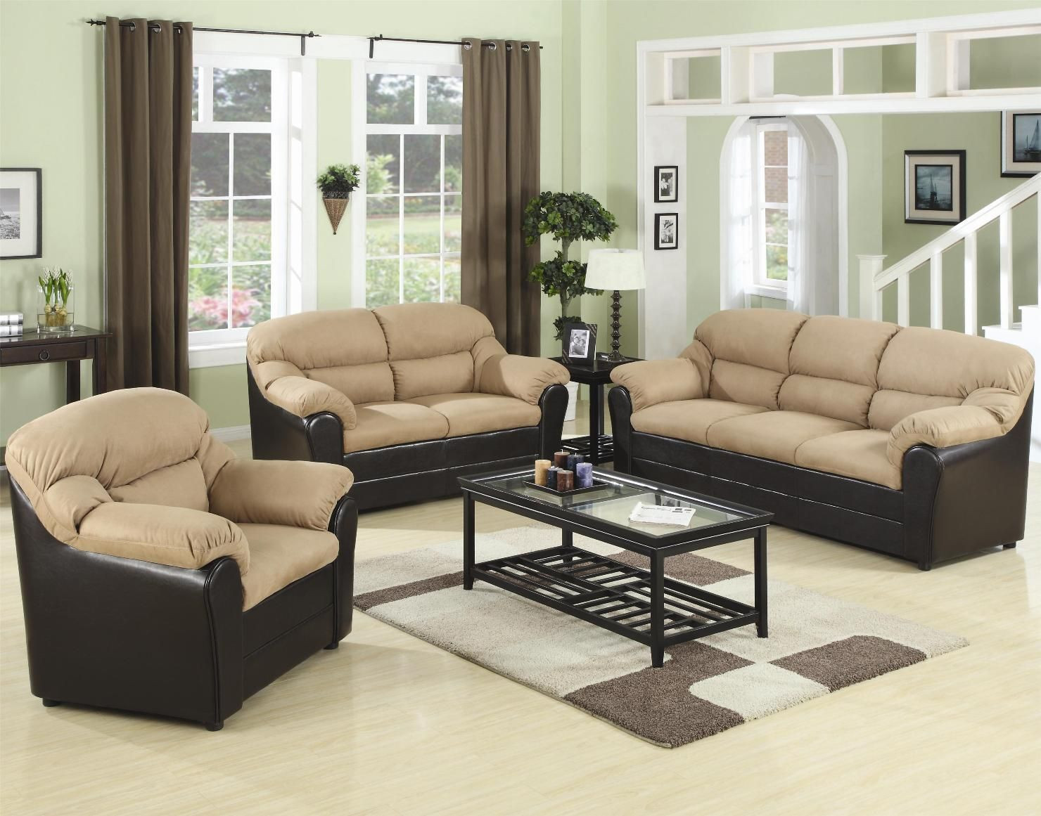 Modern Living Room Sets Cheap  Leather sofa outlets for unique and charming designs at