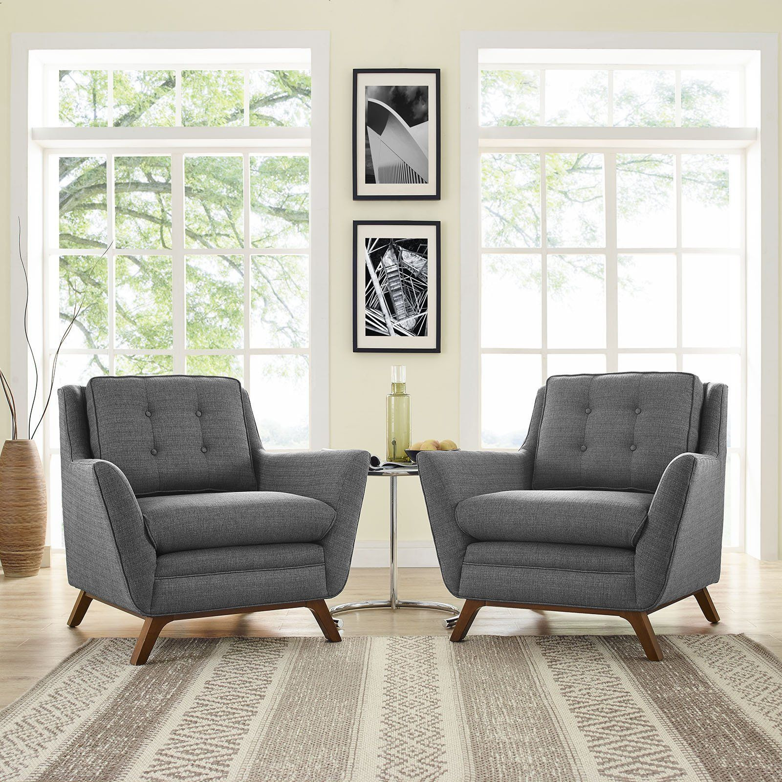 Modern Living Room Sets Cheap  Modway Furniture Modern Beguile 2 Piece Upholstered Fabric