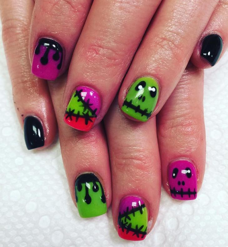 Monster Nail Designs  21 Monster Nail Art Designs Ideas