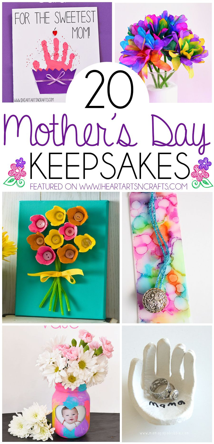 Mother'S Day Gift Ideas For Toddlers To Make  20 Mother s Day Keepsake Gifts That Kids Can Make