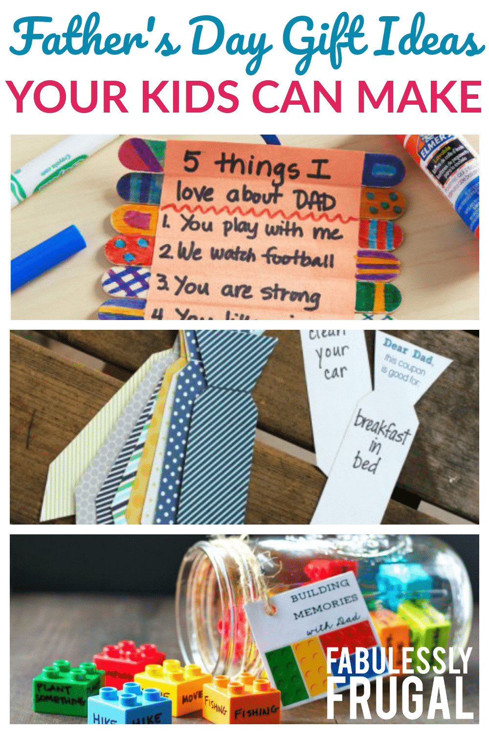 Mother'S Day Gift Ideas For Toddlers To Make  3 Perfect Kid Friendly Things to Make for Father s Day