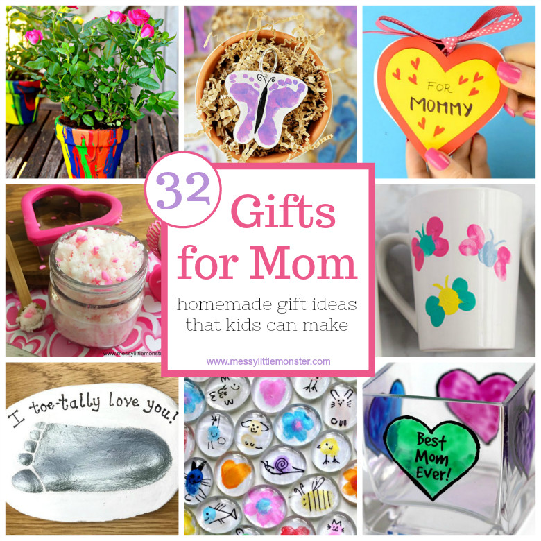 Mother'S Day Gift Ideas For Toddlers To Make  Gifts for Mom from Kids – homemade t ideas that kids